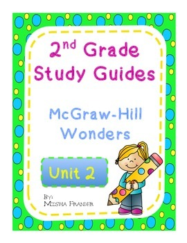2nd Grade McGraw-Hill Wonders Unit 2 Weekly Study Guides