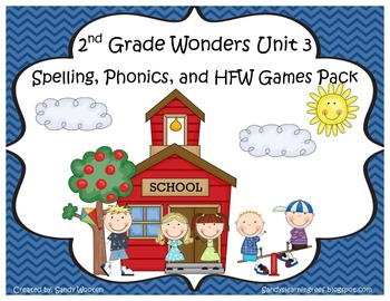 Wonders McGraw Hill 2nd Grade Unit 3 Spelling & Phonics Ga