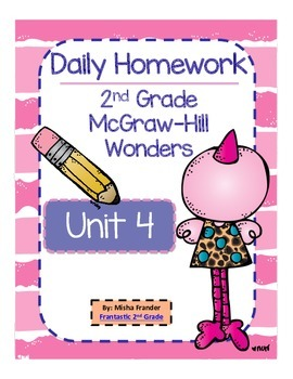 2nd Grade McGraw-Hill Wonders Unit 4 Daily Homework