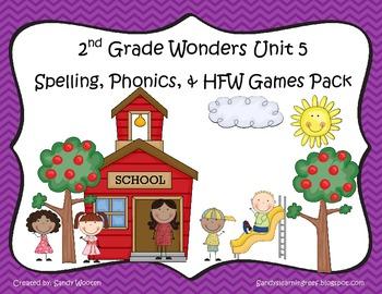Wonders McGraw Hill 2nd Grade Unit 5 Spelling & Phonics Ga