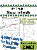2nd Grade - Measuring Length - Common Core 2.MD.1
