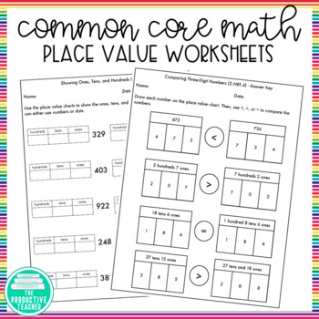 2nd Grade, Module 3, Place Value Worksheets