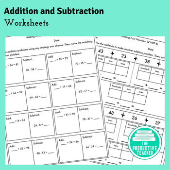 2nd Grade, Modules 4 and 5, Adding and Subtracting Worksheets