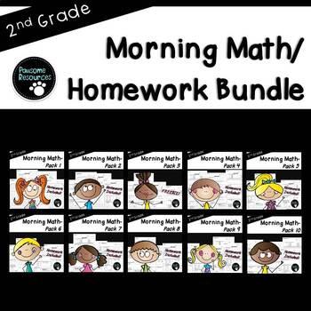 2nd Grade Morning Work (EDITABLE!)