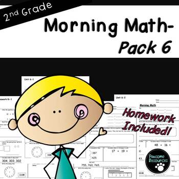 2nd Grade Morning Math-EDITABLE! (Unit 6)