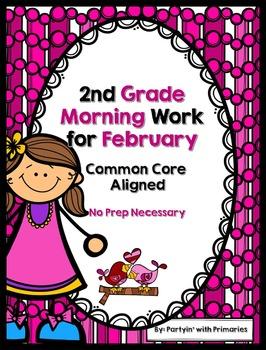 2nd Grade Morning Work for February Common Core Aligned