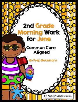 2nd Grade Morning Work for June Common Core Aligned