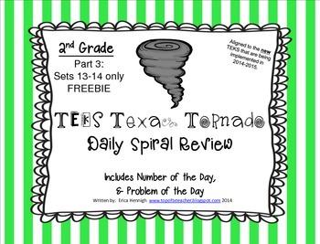 2nd Grade NEW TEKS TX Tornado Spiral Review Pt 3-Sets 13-1