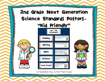 """2nd Grade Next Generation Science Standards Posters- """"Kid"""