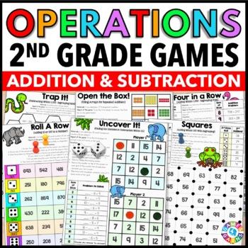 2nd Grade Math Centers: 2nd Grade Math Games for Addition