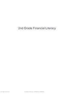 2nd Grade Personal Financial Literacy Exam (TEKS 2.11A, 2.