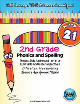 2nd Grade Phonics & Spelling D'Nealian Week 21 (R-Controll