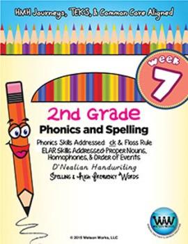 2nd Grade Phonics and Spelling D'Nealian Week 7 (Digraph c