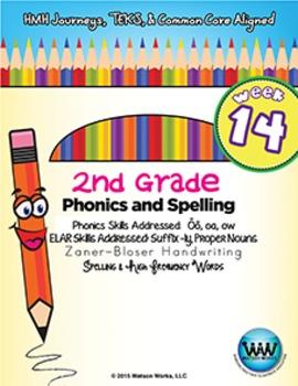 2nd Grade Phonics and Spelling Zaner-Bloser Week 14 (long