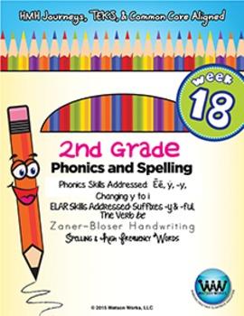 2nd Grade Phonics and Spelling Zaner-Bloser Week 18 (Long
