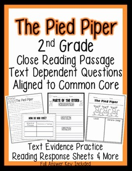 2nd Grade Common Core: Passage for Close Reading, Assessme