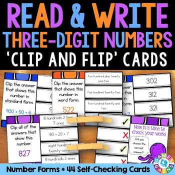 2nd Grade Place Value Activity: Writing Three-Digit Number