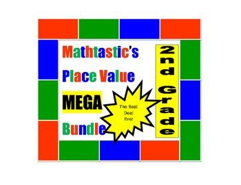 Mathtastic's 2nd Grade Place Value Games MEGA Bundle for C