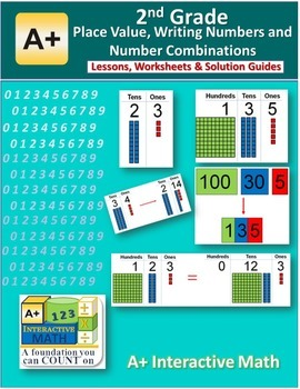 2nd Grade Place Value Number Combinations Lessons, Workshe