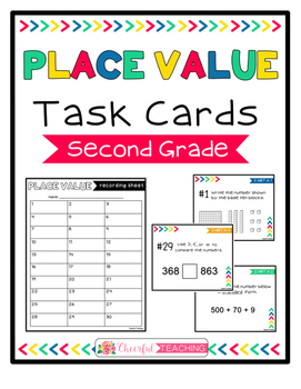 2nd Grade Place Value Task Cards