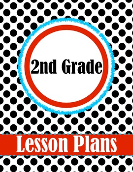 2nd Grade Polk-a-dot Lesson Plan Set - Binder Cover, Daily