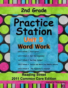 2nd Grade, Practice Station Word Work, Unit 5, Reading Str