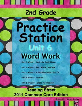 2nd Grade, Practice Station Word Work, Unit 6, Reading Str
