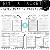 2nd/3rd Grade Print a Packet: NO PREP Reading Comprehensio