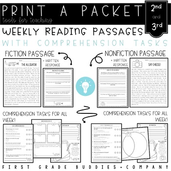 2nd/3rd Grade Print a Packet: NO PREP Reading Comprehensio