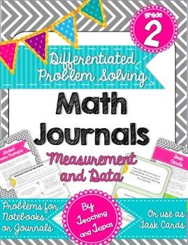 2nd Grade Problem Solving Math Journal - Measurement and D