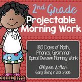 2nd Grade Projectable Spiral Review Morning Work 180 Days!