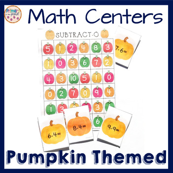 2nd Grade Pumpkin Math Centers