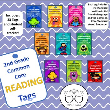 2nd Grade Reading Common Core Brag Tags