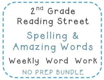 2nd Grade Reading Street 2010 Center Activities , Spelling