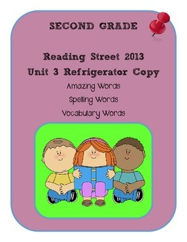 2nd Grade Reading Street 2013 Unit 3 Refrigerator Copy