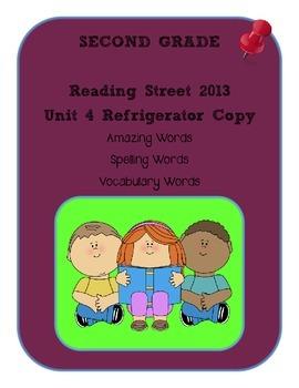 2nd Grade Reading Street 2013 Unit 4 Refrigerator Copy