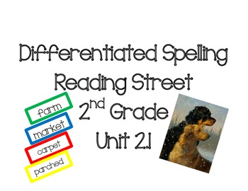 2nd Grade Reading Street Differentiated Spelling Unit 2.1