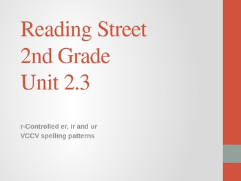 2nd Grade Reading Street Differentiated Spelling Unit 2.3