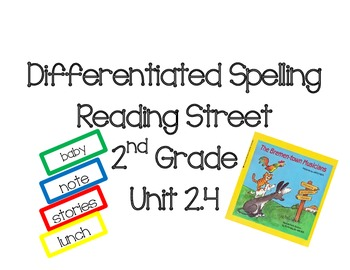 2nd Grade Reading Street Differentiated Spelling Unit 2.4