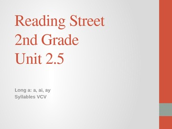 2nd Grade Reading Street Differentiated Spelling Unit 2.5
