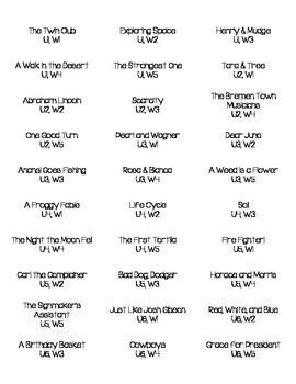 2nd Grade Reading Street File Folder Labels