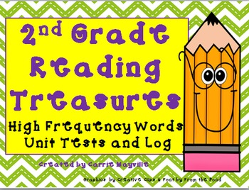 2nd Grade Reading Treasures High Frequency Words Tests
