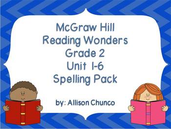 2nd Grade Reading Wonders Spelling Pack_Units 1-6