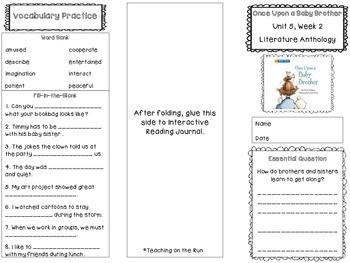 2nd Grade Reading Wonders Trifold - Unit 5, Week 2