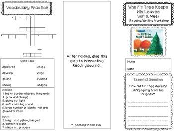2nd Grade Reading Wonders Trifold - Unit 6, Week 1