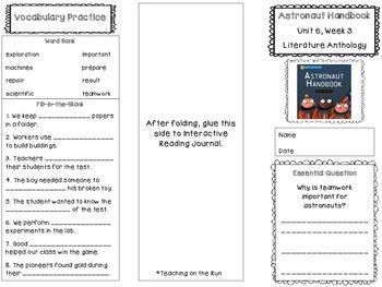 2nd Grade Reading Wonders Trifold - Unit 6, Week 3