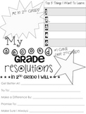 2nd Grade Resolution Sheet