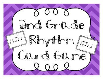 2nd Grade Rhythm Card Game