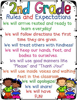 2nd Grade Rules and Expectations