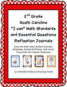 """2nd Grade SC """"I can"""" Math Standards and Essential Question"""